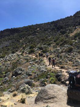Coming down to Karanga Valley