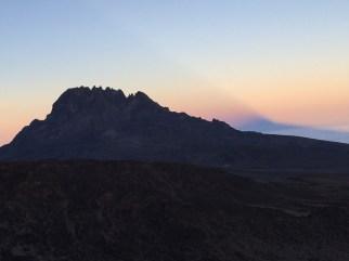 Barafu, Mt Mawenzi and Sunset