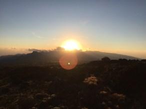 Sunset over Shira 2 Camp