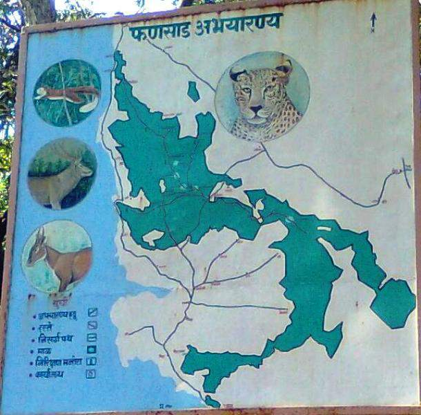 Phansad Wildlife Sanctuary - map