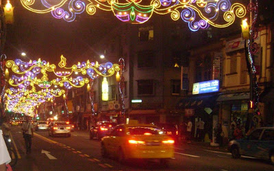 Little India Singapore Road lighting for Diwali festival