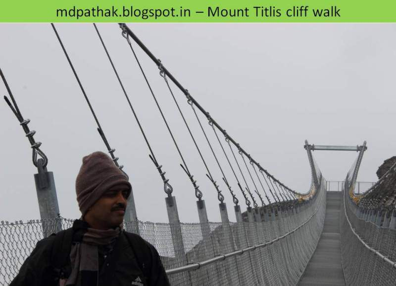 cliff walk at mount titlis