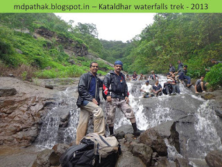 enjoying monsoon waterfalls on the way