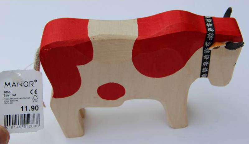 swiss souvenir wooden cow