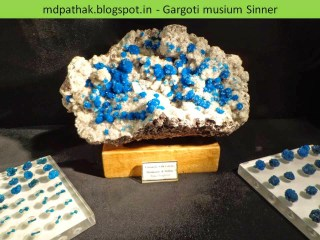 cavansite with calcite heulandite and stilbite found at Pune, Wagholi, Maharashtra