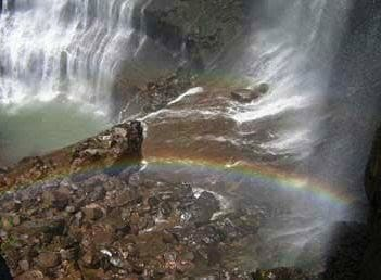 rainbow waterfall india