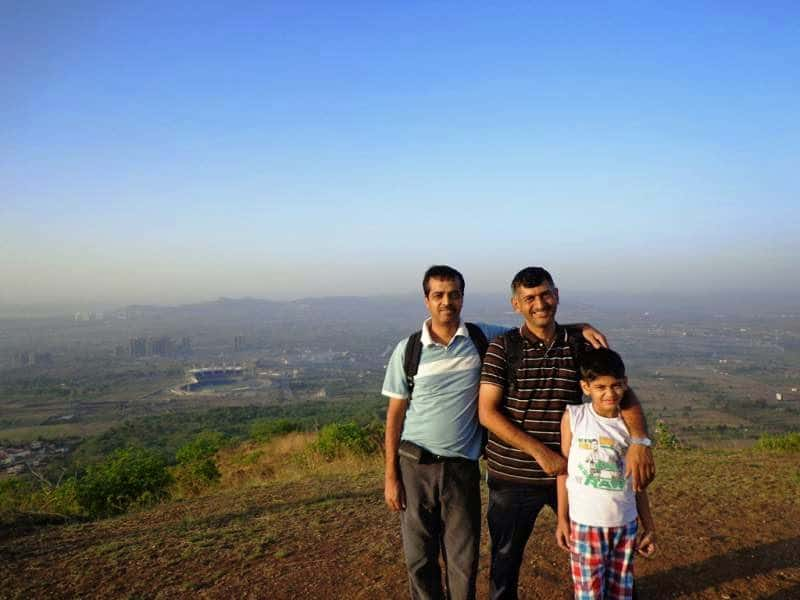 with manoj rane on the top of ghorawadeshwar