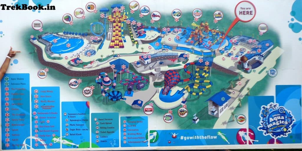 aqua magica india waterpark map