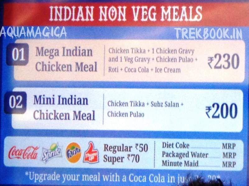 aquamagica indian non veg meals