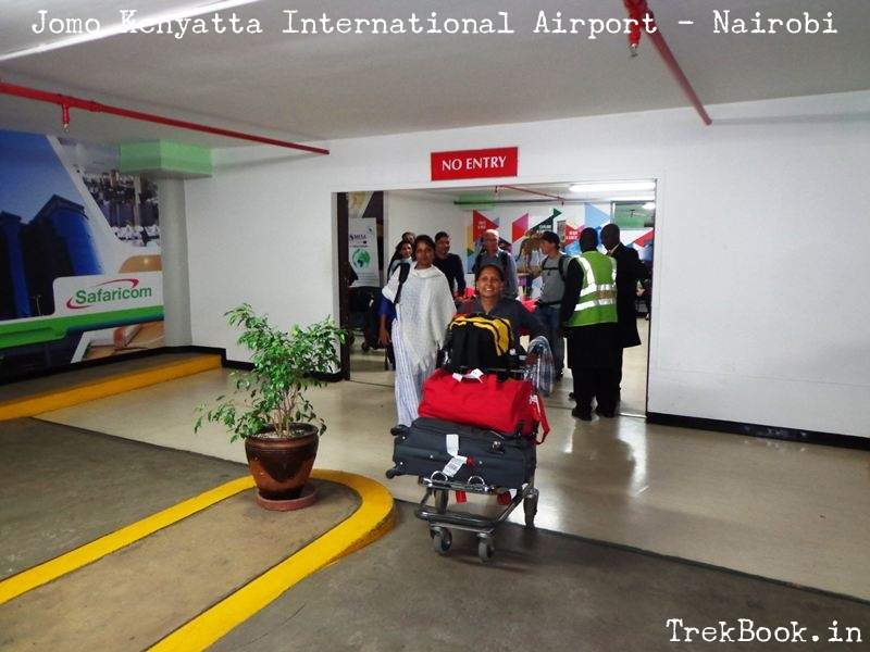Arrived at Jomo Kenyatta International Airport - Nairobi