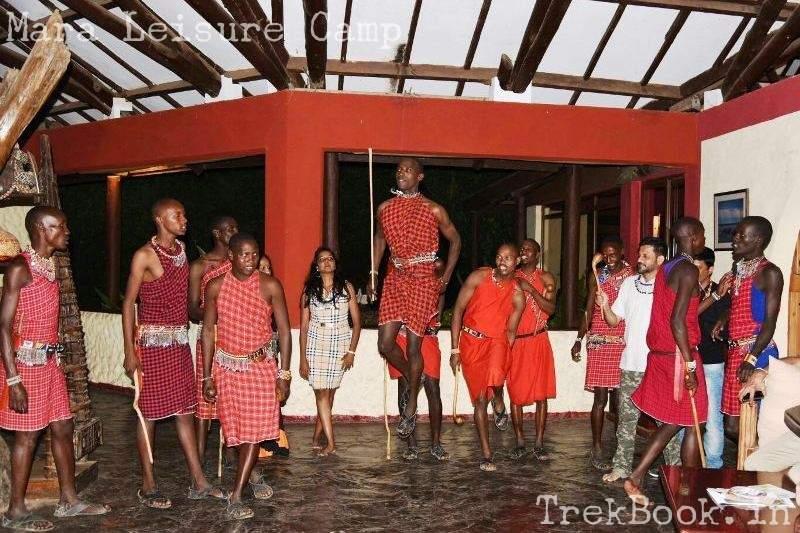 Masai jumping dance at mara leisure camp