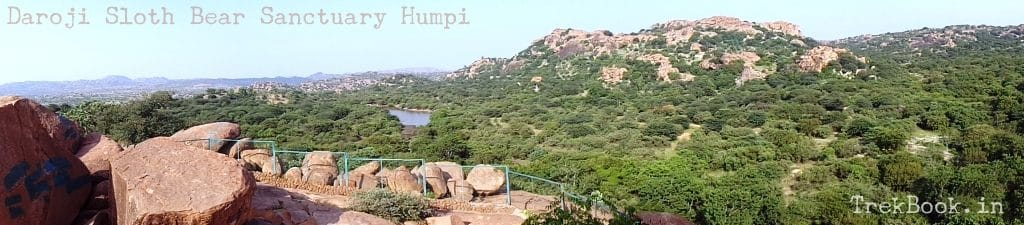 Panorama view of Daroji Sloth Bear Sanctuary Humpi