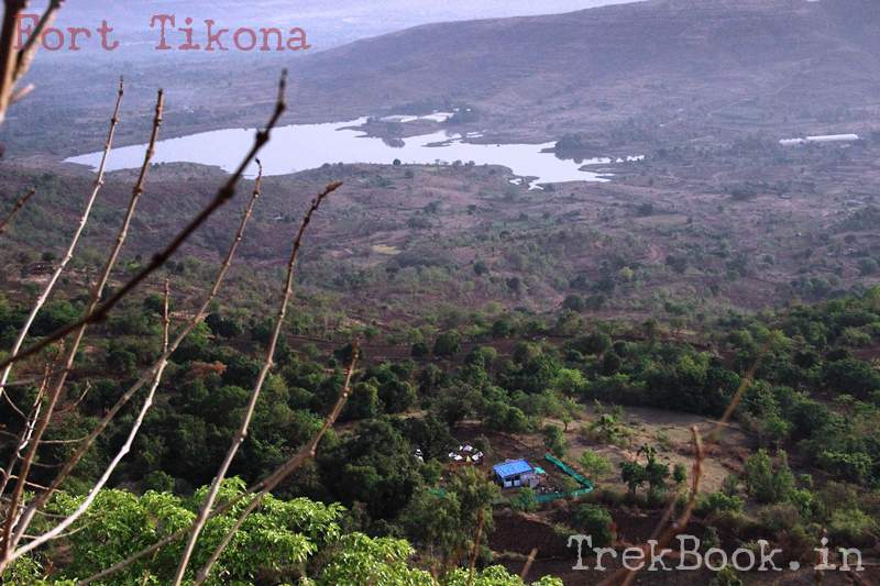 tikona camping site view from fort top