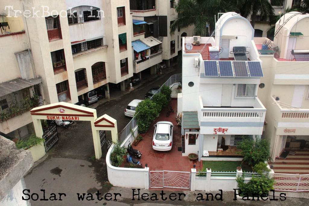 solar panels and solar water heater setup 1 kw 200 liters
