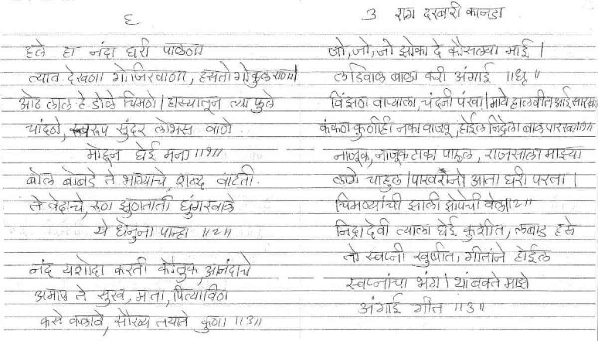 Marathi Barsa Songs my Mothers Collection [Naming Ceremony] -1