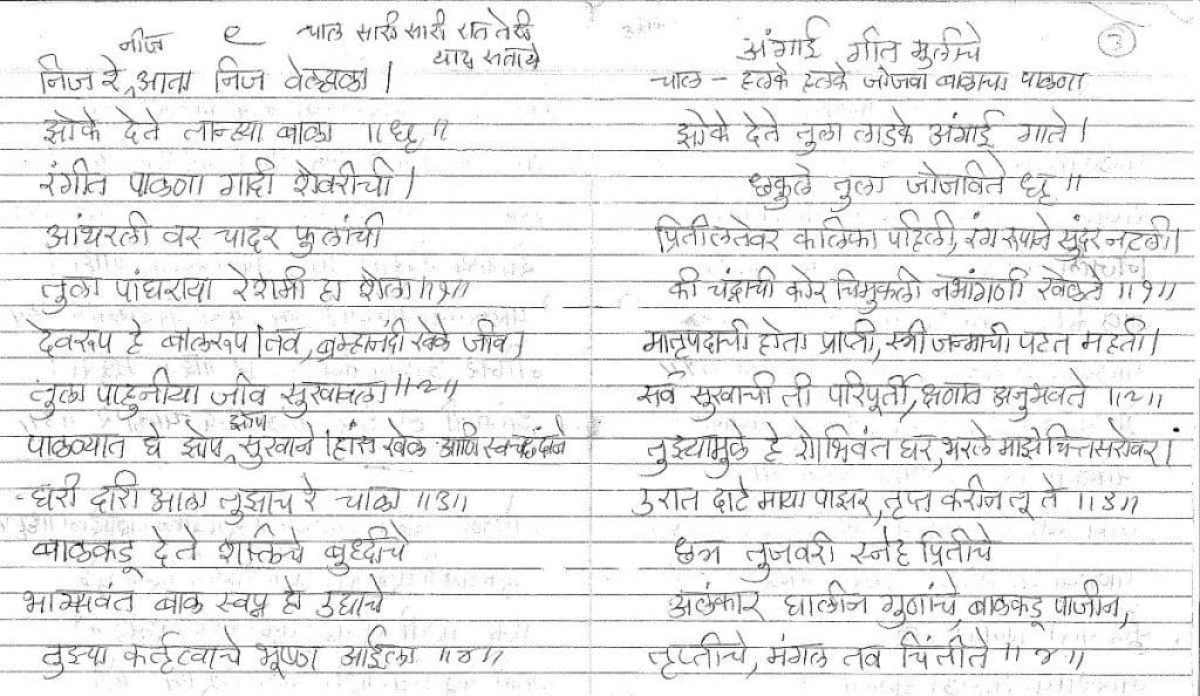 Marathi Barsa Songs my Mothers Collection [Naming Ceremony] -3