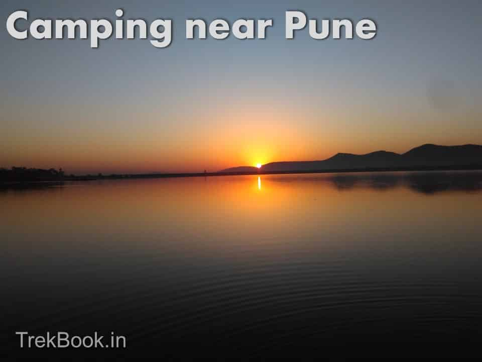 sunrise over lake near pune