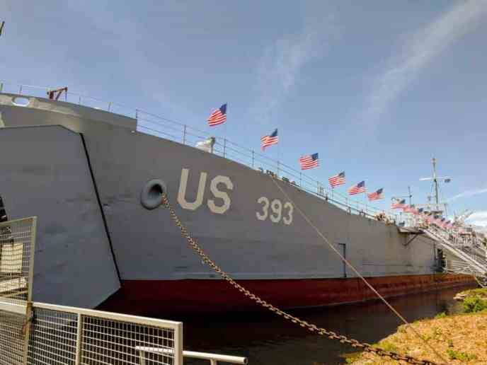 USS LST 393 exterior