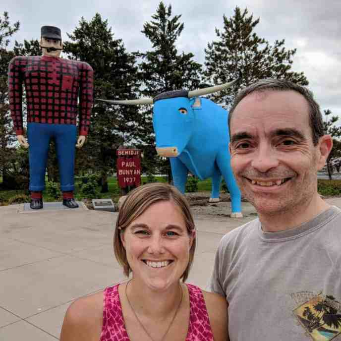 couple with paul bunyan