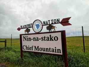 Blackfeet Nation sign