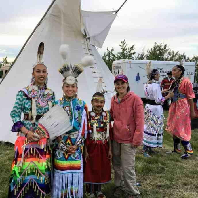 young Blackfeet dancers