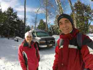 Jessi and Ari from Trekers with their Roadtrek 190 Popular in the winter
