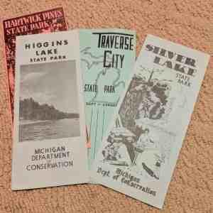 Historic camping brochures