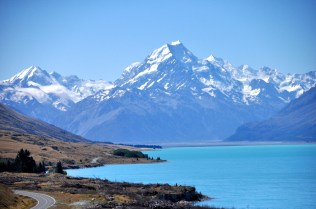 Mt Cook and the road in