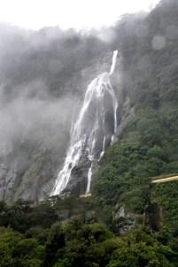 Waterfall in the rain