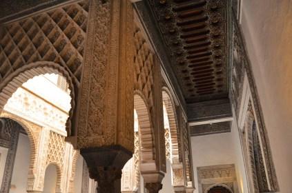 Beautiful columns and hallway wall