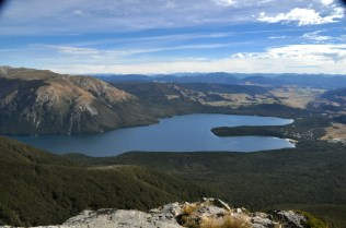 Mt. Robert and Lake Rotoiti, from above treeline on the St Arnaud range