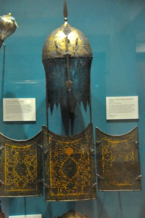 Body armor, Persia, 1800's, intricately decorated with scenes of battle, hunting and social life