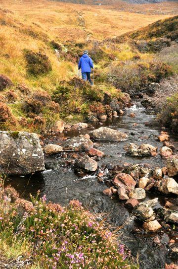 Hike along a pretty stream