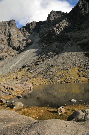 Lake at the cirque base