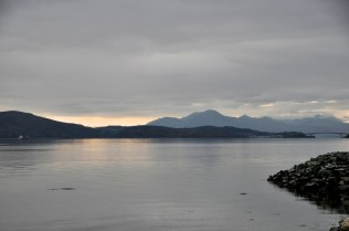 Loch Alsh and the bridge to the Isle of Skye (far right)