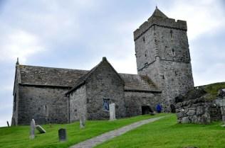 The medieval church Tur Chliamain, front
