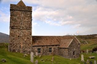 The medieval church Tur Chliamain, back