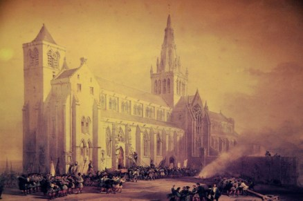 The Saving of the Cathedral, watercolor by David Roberts, 1820