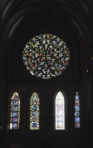 "The south transept and its ""Bishop's Eye"" window"