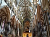 Looking down the Lincoln Cathedral nave