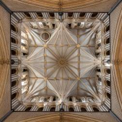 From the internet, the Lincoln Cathedral central tower from the crossing