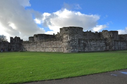 The unfinished (and stubby) Beaumaris Castle