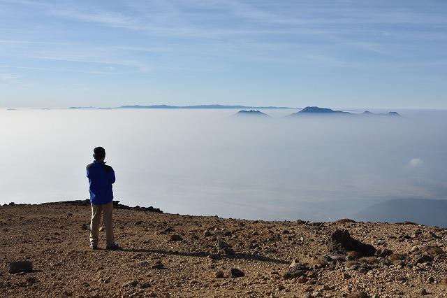 稲星山から阿蘇山を望む