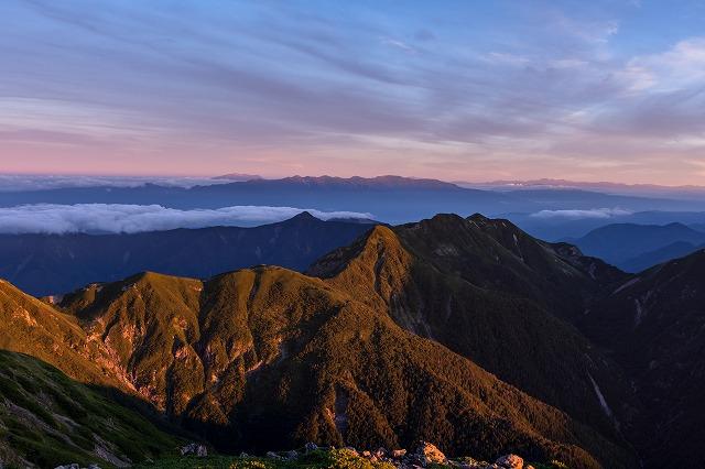 モルゲンロート兎岳