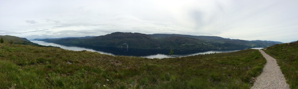 Loch Ness view, the high route