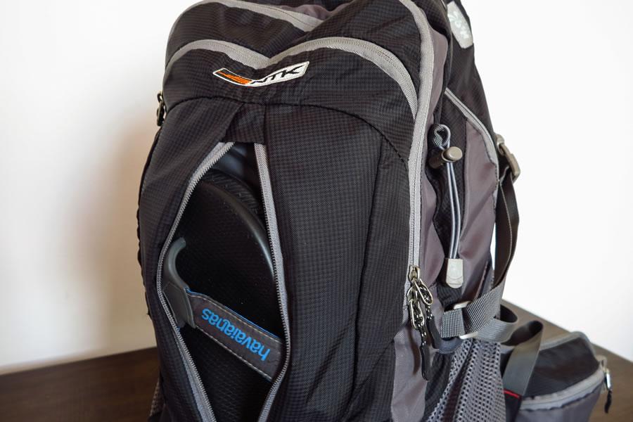 Bolso frontal da mochila