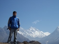 Kim Rana en Campamento base del Everest