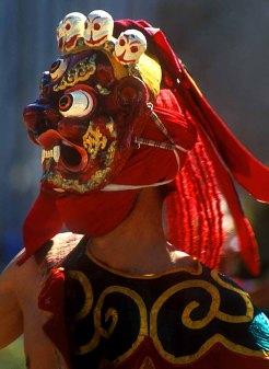 Bhutan masked dance