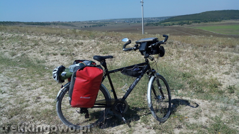 Mołdawia - Dzień 6 biały szuter rower trekkingowo