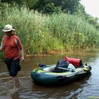 Pierwszy spływ rzeką Barycz 2012 (pontonem)